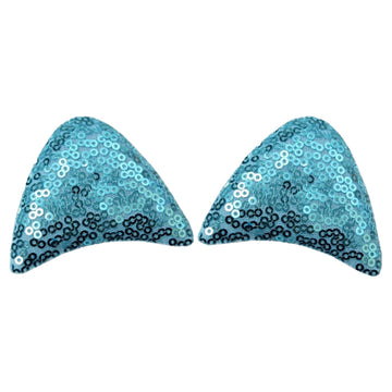 "Blue - 2.5"" Sequins Unicorn Ears"