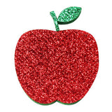 "Glitter Apple - 2"" Felt Applique"