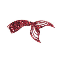"Red Chunky Glitter Mermaid/Fish Tail - 2.25"" Felt Applique"