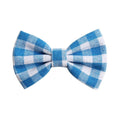 "Blue + White Plaid - 4"" Fabric Bow"