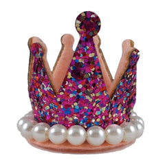"Confetti - 1.5"" Glitter Crown with Pearls"