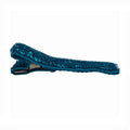 Blue - Glitter Partially Lined - Single Prong Alligator Clip - 45mm