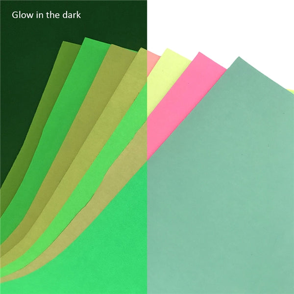 Aqua - Glow in the Dark Faux Leather Sheet