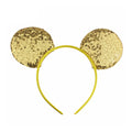 "Gold - 3.25"" Sequins Mouse Ears Headband"