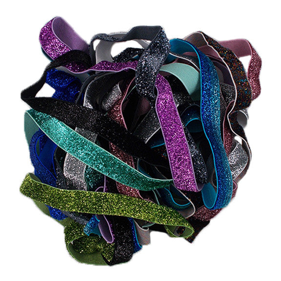"Grab Bag - 5/8"" Glitter Elastic - 10 Yards"