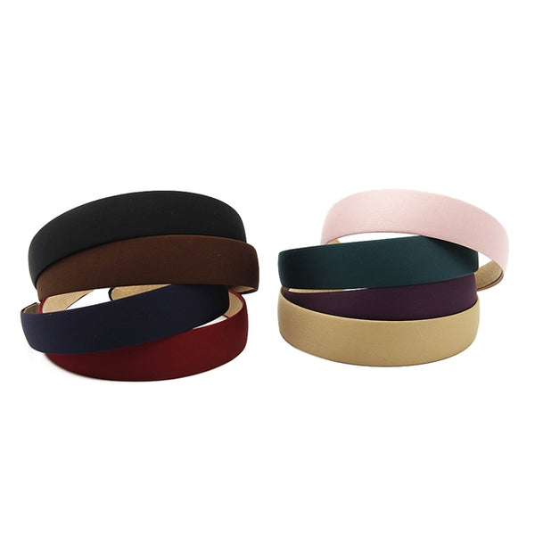 Wine - 25mm Satin Lined Headband