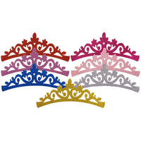 "Pale Pink - 7"" Felt & Glitter Crown"