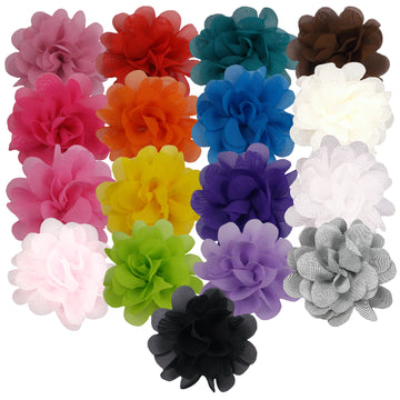 "Sampler - 2"" Mini Chiffon Puffs - 17 Flowers"