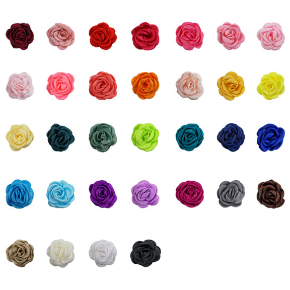 "Sampler - 2.25"" Satin Petal Rose - 32 Flowers"