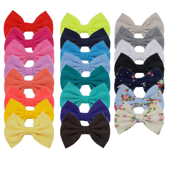 "Grab Bag - 5"" XL Jersey Knit Bow - 10 Bows"