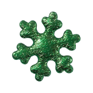 "Green Snowflake - 1"" Padded Applique"