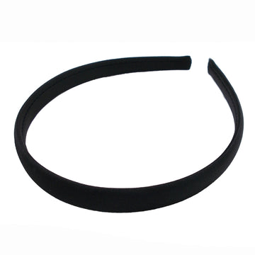 Black - 15mm Satin Lined Headband