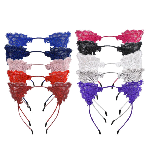 Wine Lace - Cat Ears Headband