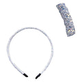 White Iridescent - 5mm Chunky Glitter Headband