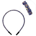 Royal Blue Confetti - 5mm Chunky Glitter Headband