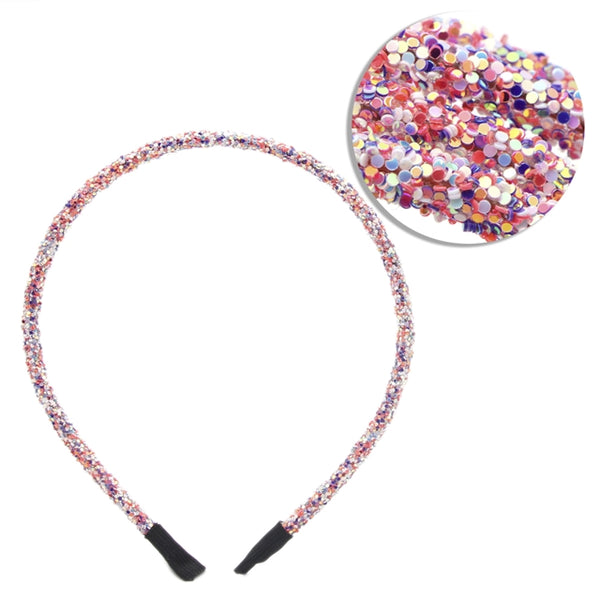 Unicorn Confetti - 5mm Chunky Glitter Headband