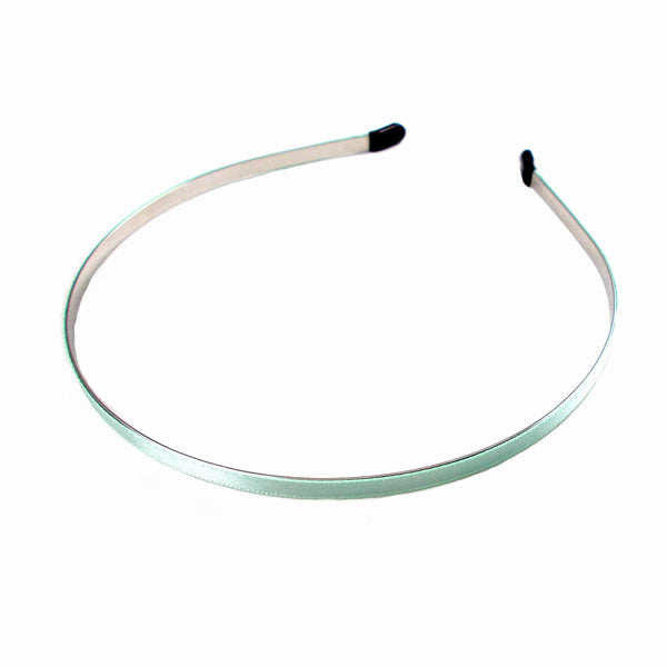 Sea Foam - 5mm Ribbon Lined Metal Headband
