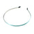 Aqua - 5mm Ribbon Lined Metal Headband