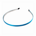 Blue - 5mm Ribbon Lined Metal Headband