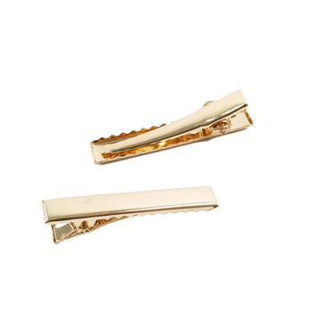 "45mm / 1.75"" Gold Alligator Clip with Teeth"