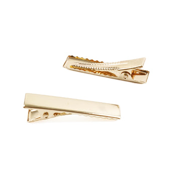 "1.36"" Gold Alligator Clip with Teeth"