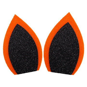 "Orange + Black - 3"" Felt Unicorn Ears"