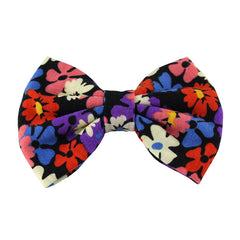 Black Daisies - XL Jersey Knit Bow