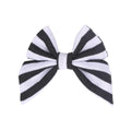 "Black + White Stripe - 3"" Jersey Sailor Bow"