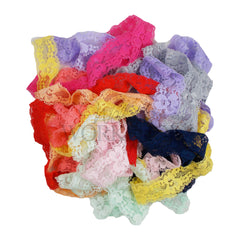 "Grab Bag of 10 Yards - 1"" Stretch Lace Elastic"