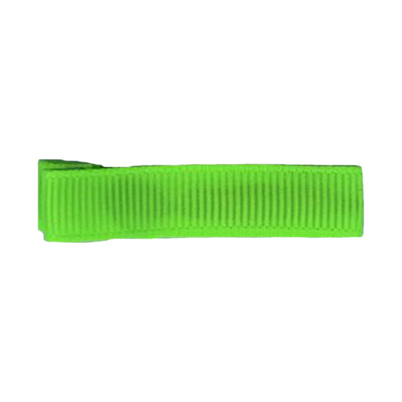 Chartreuse - Partially Lined - Single Prong Alligator Clip - 45mm