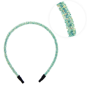 Sea Foam Iridescent - 5mm Chunky Glitter Headband