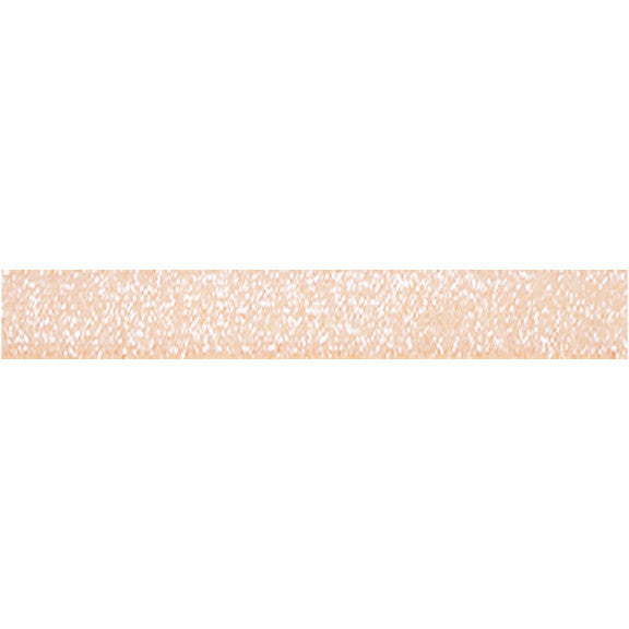 "Light Peach -  3/8"" Frosted Glitter Elastic"