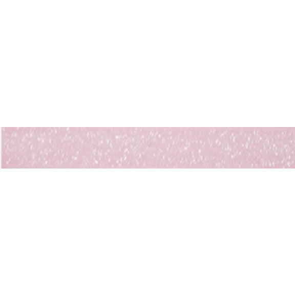 "Light Pink - 3/8"" Frosted Glitter Elastic"