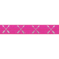 "Hot Pink & Silver Arrows - 5/8"" Metallic Printed Fold Over Elastic"
