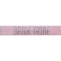 "Ballerina Pink & Silver Bride Tribe - 5/8"" Metallic Printed Fold Over Elastic"