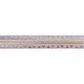 "Lavender & Gold Aztec - 5/8"" Metallic Printed Fold Over Elastic"