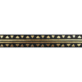 "Black & Gold Aztec - 5/8"" Metallic Printed Fold Over Elastic"