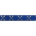 "Navy Blue & Gold Arrows - 5/8"" Metallic Printed Fold Over Elastic"