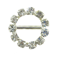 Circle - 15mm Metal Rhinestone Slider