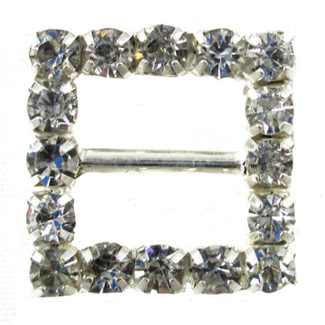 Square - 15mm Metal Rhinestone Slider