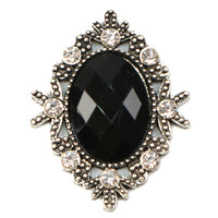 Black - 32mm Silver Victorian Metal Button