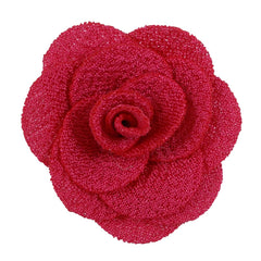 "Hot Pink - 1.5"" Mini Cloth Flower"