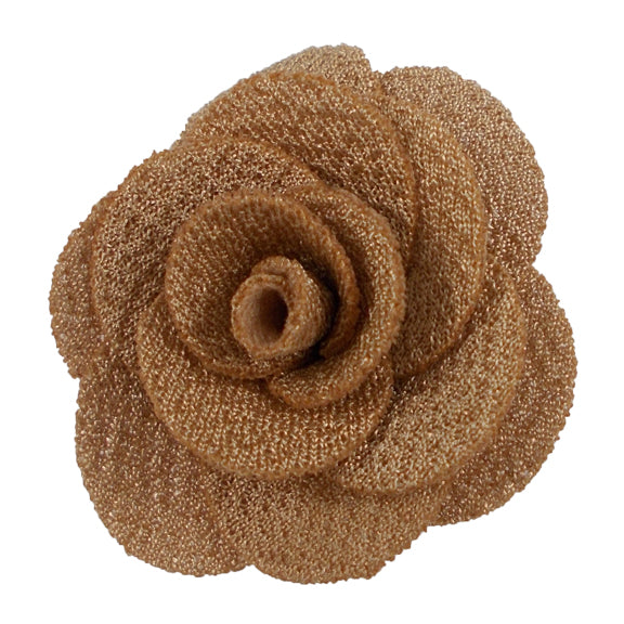 "Beige - 1.5"" Mini Cloth Flower"