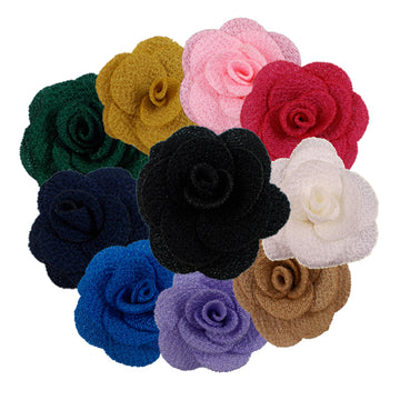 "Grab Bag - 1.5"" Mini Cloth Flowers - 10 Flowers"