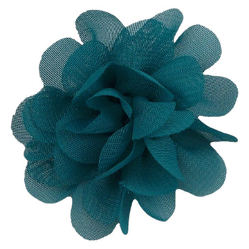 "Teal - 2"" Mini Chiffon Puff"