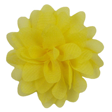 "Bright Yellow - 2.5"" Petite Chiffon Puff"