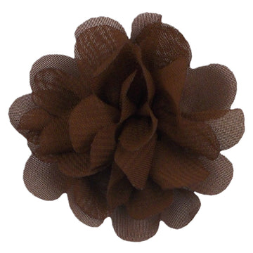 "Brown - 2"" Mini Chiffon Puff"