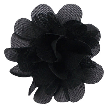 "Black - 2"" Mini Chiffon Puff"