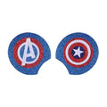 "Captain America - 3.25"" Glitter + Felt Mouse Ears"