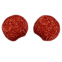 "Red - 2.75"" Chunky Glitter Mouse Ears"